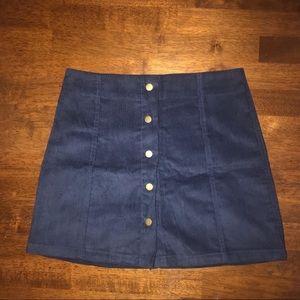 Ships today!  Blue corduroy skirt